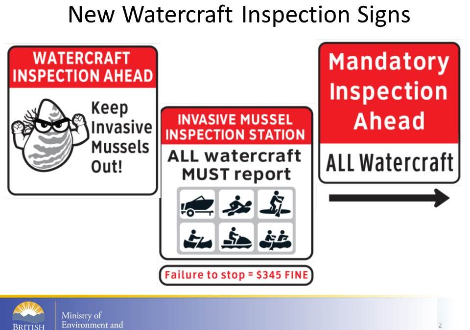 All watercraft & trailers must stop at Inspection Signs or face a $345 fine